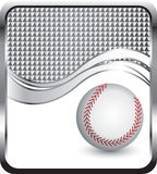 Baseball on silver checkered wave background Stock Photos