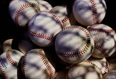 Baseballs. Baseball sitting in a batting practice bag Royalty Free Stock Photo