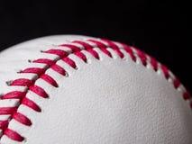Baseball snör åt closeupen Arkivbild