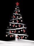 Baseball and socks on Christmas tree. Red sock and baseball ornaments on Christmas tree Stock Photos