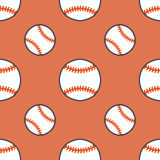 Baseball, softball sport game vector seamless pattern, background with line icons of balls. Linear signs for. Championship, equipment store Royalty Free Stock Images
