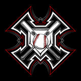 Baseball / Softball Tribal Vector Image Royalty Free Stock Photography