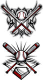 Baseball / Softball Tribal Vector Image. Baseball and Softball Tribal Graphic Vector Image stock illustration