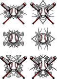 Baseball / Softball Tribal Vector Images royalty free illustration