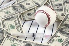 Baseball, soldi e droghe Fotografie Stock Libere da Diritti