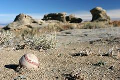 baseball som allvarligt förloras royaltyfri bild