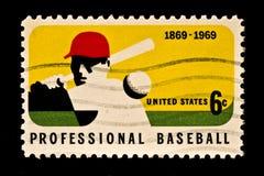 baseball som hedrar ligamajorstämpeln Royaltyfri Fotografi