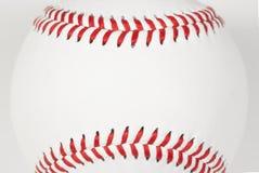 Baseball som syr ramen arkivfoto