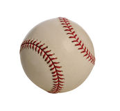 Baseball sopra priorità bassa bianca Fotografie Stock Libere da Diritti