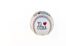 Baseball Souvenir on White Background. Stock Photography