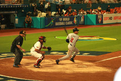 Baseball-Spiel Lizenzfreies Stockfoto