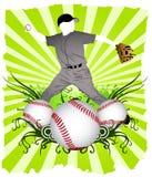 Baseball-Spieler Lizenzfreie Stockfotografie