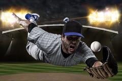 Baseball-Spieler Stockbild