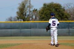 Baseball-Spieler der kleinen Liga Stockbild