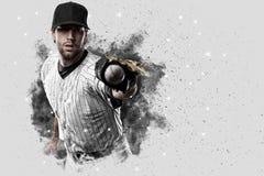Baseball-Spieler mit einer weißen Uniform Lizenzfreie Stockfotos