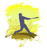 Baseball-Spieler-Schattenbild Lizenzfreie Stockbilder
