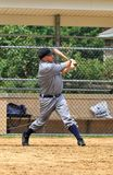 Baseball-Spieler-Schwingen weg Lizenzfreie Stockbilder