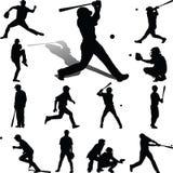 Baseball-Spieler-Vektor Lizenzfreies Stockbild