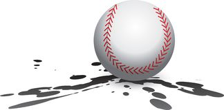 Baseball splat Royalty Free Stock Photo
