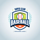 Baseball sport badge logo design template and some elements for logos, badge, banner, T-shirt screen and printing.