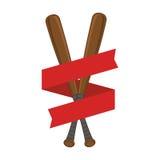 Baseball sport bat emblem icon Stock Image