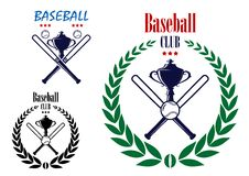 Baseball sport club emblem Stock Images