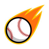 Baseball sport comet fire tail flying logo. Isolated symbol badge label Stock Photos