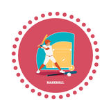 Baseball Sport Concept Icon Flat Design Royalty Free Stock Images