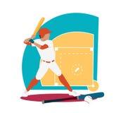 Baseball Sport Concept Icon Flat Design Stock Photography