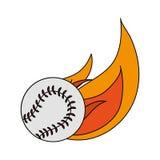 Baseball sport design. Baseball on fire over white background. vector illustration Royalty Free Stock Image