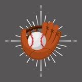 Baseball sport emblem icon Royalty Free Stock Image