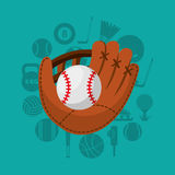 Baseball sport emblem icon Stock Photography