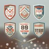 Baseball sport emblem. Set of emblems baseball team Stock Images