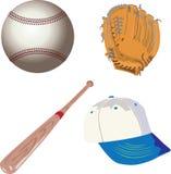 Baseball sport equipment Royalty Free Stock Photo