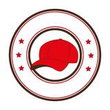 Baseball sport hat emblem icon Royalty Free Stock Images