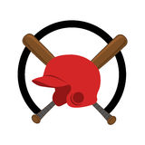 Baseball sport helmet emblem icon Royalty Free Stock Images