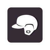 Baseball sport helmet emblem icon Stock Photos