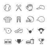Baseball Sport Icons Royalty Free Stock Photos