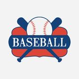 Baseball sport logo design with bat and ball. Vector illustration. Baseball sport logo design with bat and ball. Design clothes, t-shirts. Vector illustration Royalty Free Stock Photography