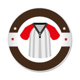 Baseball sport shirt uniform emblem icon Royalty Free Stock Photography