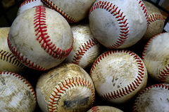 Baseball-Sport-Stapel hinter Zeit-Amerikaner-Spaß Lizenzfreie Stockfotos