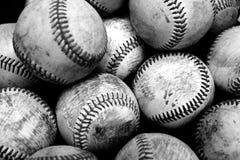 Baseball-Sport-Stapel hinter Zeit-Amerikaner-Spaß Lizenzfreies Stockbild