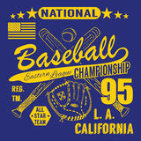 Baseball sport typography, Eastern league los angeles, sketch of crossed baseball batsand glove t-shirt Printing design graphics, Stock Images