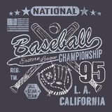 Baseball sport typography, Eastern league los angeles, sketch of crossed baseball batsand glove t-shirt Printing design graphics, Stock Photos