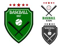 Baseball sporting emblems Stock Photography