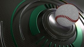 Baseball sports background. 3D Render of a Baseball sports background Stock Image