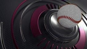 Baseball sports background. 3D Render of a Baseball sports background Stock Photos