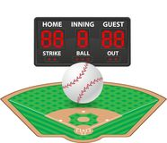 Baseball sports digital scoreboard vector illustration Royalty Free Stock Photography