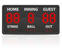 Baseball sports digital scoreboard vector illustration Royalty Free Stock Photo