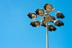 Baseball spotlight pole Royalty Free Stock Photo
